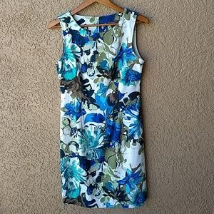 Covington floral sleeveless dress